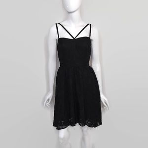 Ali and Jay Strappy Fit & Flare Dress Black Lace M